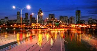 Montreal City Urban Montage 04 - RF Stock Photo