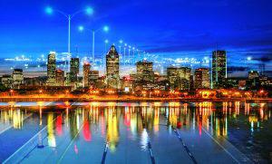 Montreal City Urban Montage 06 - RF Stock Photo