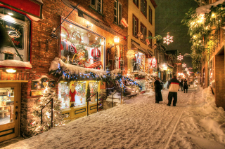 Old Quebec City District Alley - RF Stock Photo