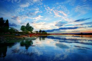 Sunset in Saguenay - RF Stock Photo