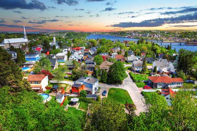 Ville de Saguenay ou Chicoutimi - RF Stock Photo