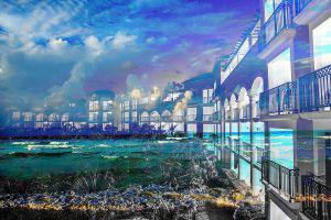 Hotel Resort Photo Montage 01 - RF Stock Photo