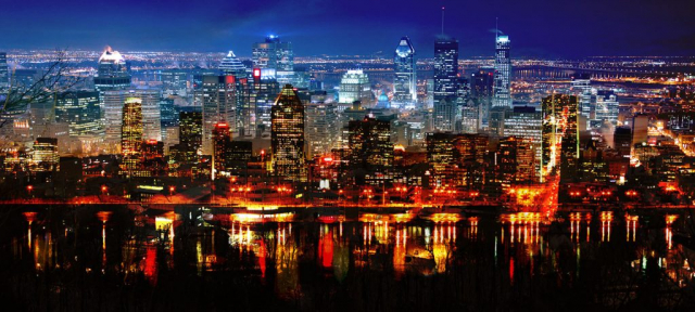 Montreal City in Double - RF Stock Photo