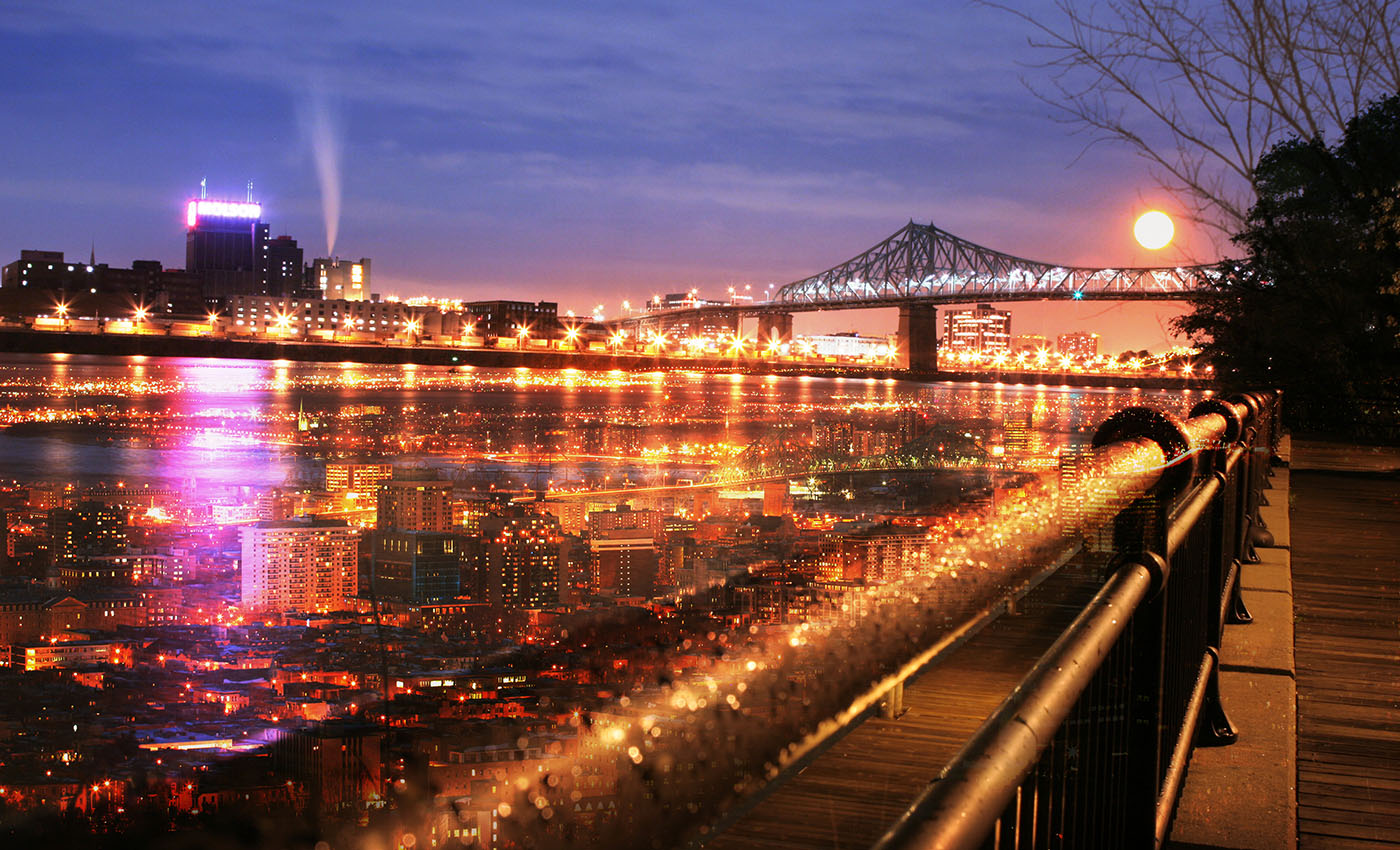 Montreal Jacques Cartier Bridge and River - RF Stock Photo