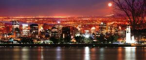 Montreal Skyline in a Beautiful Night - RF Stock Photo
