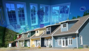 Resort Condos Photo Montage - RF Stock Photo