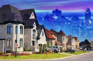 Urban Sprawl Photo Montage - RF Stock Photo