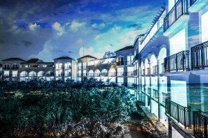 Hotel Resort Photo Montage 03 - RF Stock Photo