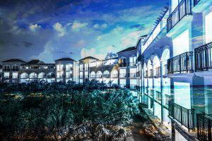 Hotel Resort Photo Montage 03 - RF Stock Photo