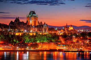 Quebec Frontenac Castle Montage 02 - RF Stock Photo