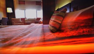 Sunset Bed Cover 1 - RF Stock Photo