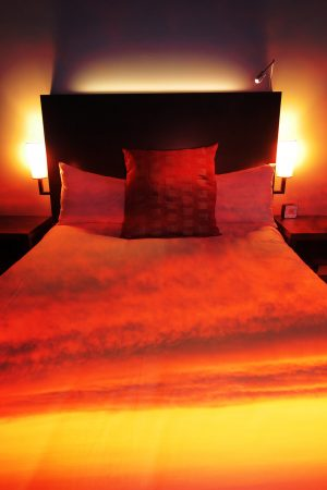 Sunset Bed Cover 2 - RF Stock Photo
