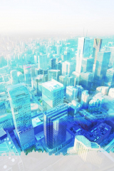 Urban Vertical Cityscape - RF Stock Photo