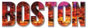 Boston City Text 1 Stock Photo