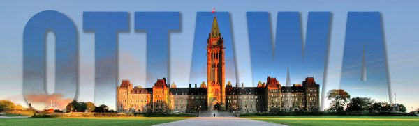Federal Parliament with Ottawa Text 1 - RF Stock Photo