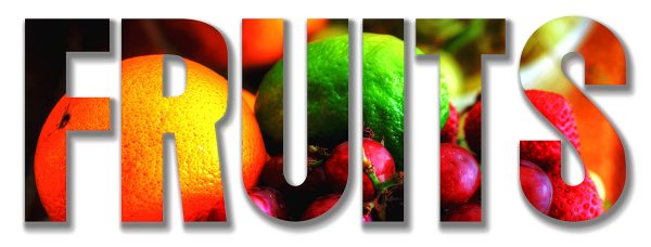 Fruits Text 1 - RF Stock Photo