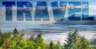 Travel Text on Landscape 1 - RF Stock Photo