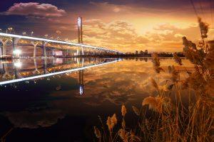 New Champlain Bridge in Montreal City - RF Stock Photo
