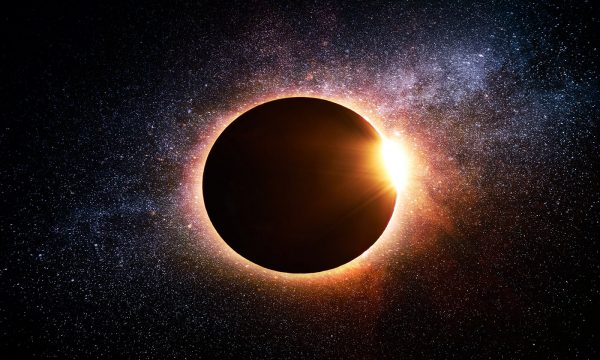 Solar Eclipse in Space - RF Stock Photo