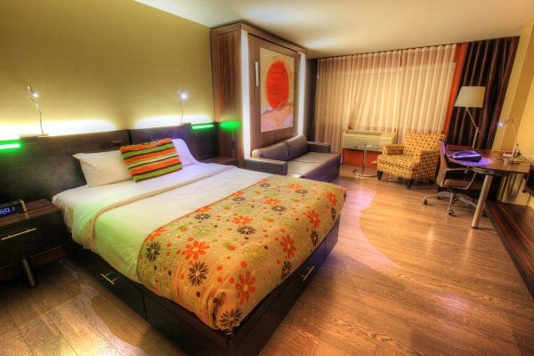 Colorful Hotel Room - RF Stock Photo