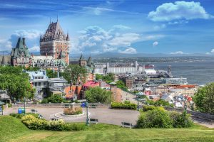 Old Quebec City District in Summer - RF Stock Photo
