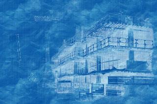 Construction Project Blueprint Sketch Image - RF Stock Photo