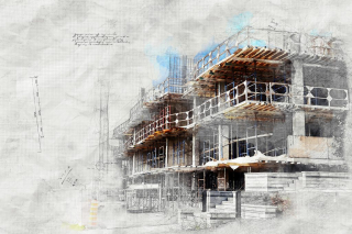 Construction Project Sketch Image - RF Stock Photo