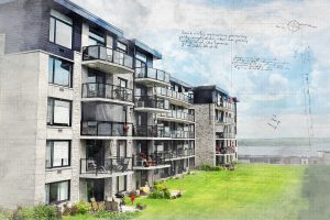 Modern Condos Sketch Image - RF Stock Photo