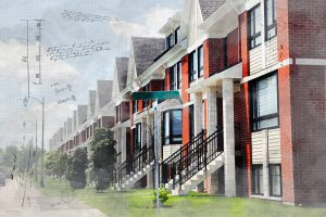 Urban Condos Sketch Image - RF Stock Photo