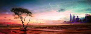 Colorful Apocalyptic Landscape 06 - RF Stock Photo