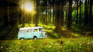 Vintage VW Camper Van Road Trip 04 - RF Stock Photo