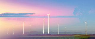 Windmills at Sunset 02 - RF Stock Photo