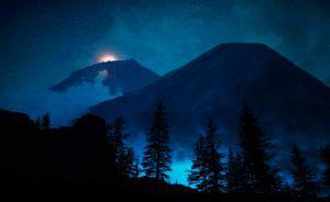 Mystery Woods at Night 01 - RF Stock Photo