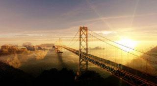 Surreal Suspension Bridge 02 - RF Stock Photo