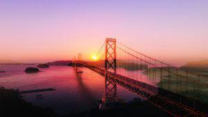 Surreal Suspension Bridge 03 - RF Stock Photo