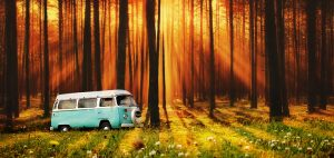 Vintage VW Camper Van Road Trip 07 - RF Stock Photo