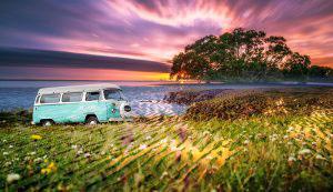 Vintage VW Camper Van Road Trip 08 - RF Stock Photo