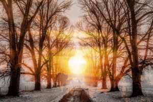 Wintery Road 01 - RF Stock Photo