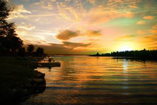 Perfect Sunset Lake - RF Stock Photo