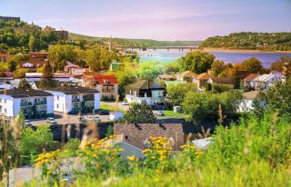 Saguenay City Neighborhood - RF Stock Photo