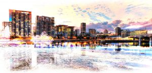 2020 Montreal Cityscape with Colorful Special Effect Image - RF Stock Photo
