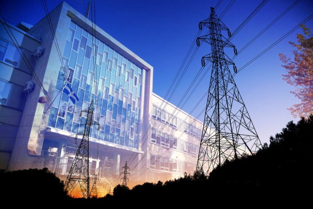 Commercial and Public Building Energy Efficiency - RF Stock Photo