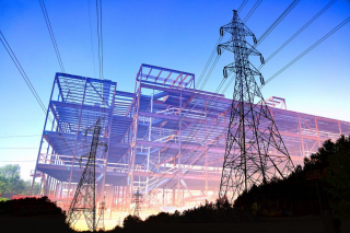 Construction Industry Electrification Concept - RF Stock Photo