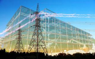 Large Construction Industry Electrification - RF Stock Photo