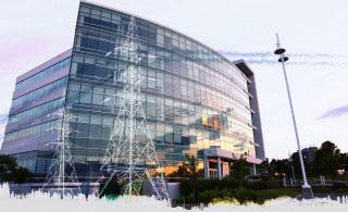 Modern Business Electrification on White - RF Stock Photo