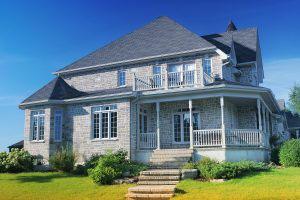 Large Rustic Style Grey Brick House