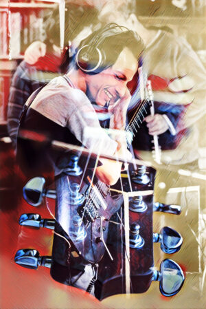 Guitar Player Photo Montage